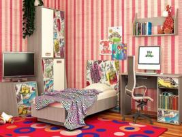 Набор детской мебели Vitamin 3, МДФ глянец albico