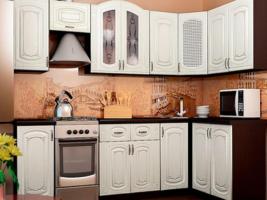 Угловая кухня Dolce Vitа-22у, МДФ глянец