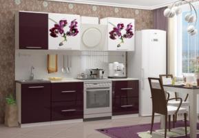 Кухня с фотопечатью Орхидея 1