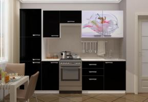 Кухня с фотопечатью Лилия