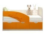 Детская кровать Дельфин 80 на 160, оранж