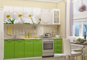 Кухня Ромашки-2 МДФ 2000 с фотопечатью