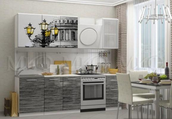 Кухня Санкт-Петербург МДФ 1800 с фотопечатью